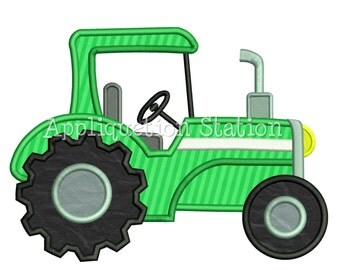 Tractor Boy Applique Machine Embroidery Design INSTANT DOWNLOAD
