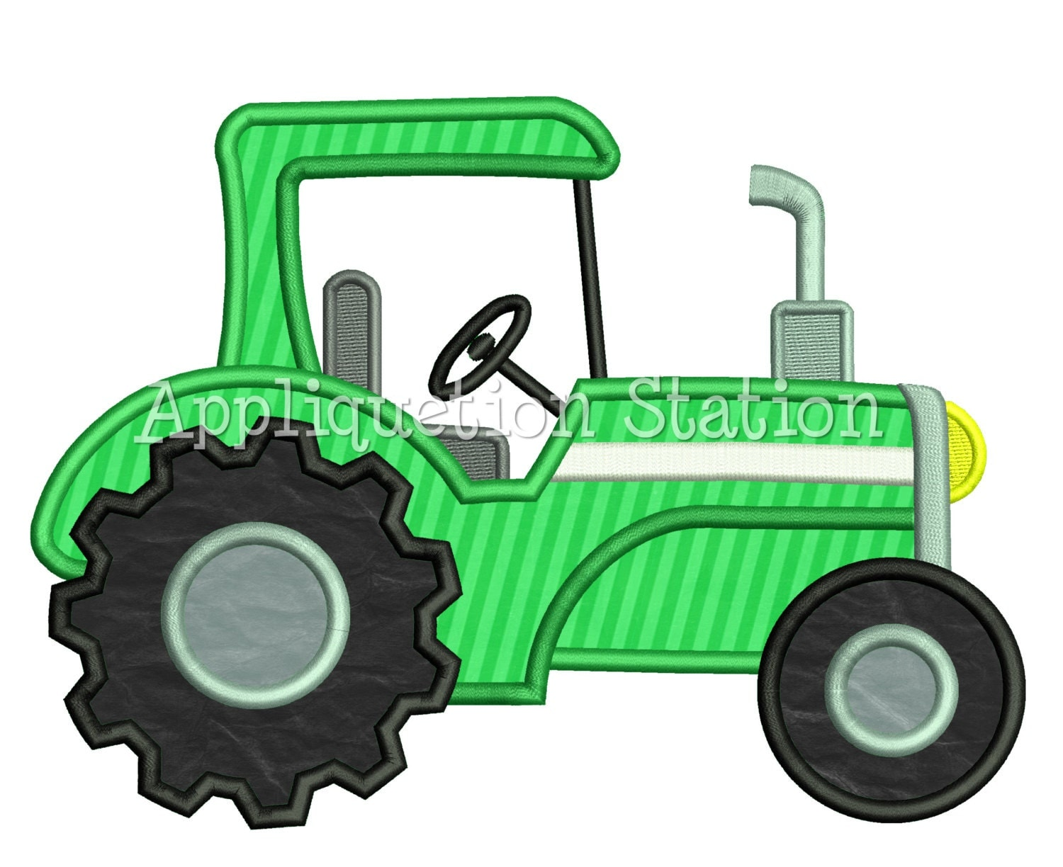 Embroidery Of Tractors : Tractor boy applique machine embroidery design instant