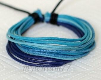 794 Women's blue ropes bracelet Cotton ropes bracelet Thin ropes bracelet Women's fashion cotton jewelry Birthday gift For women and girls