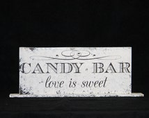 Cake Sign for Wedding Cake Table or Party - Wedding Reception Wood Sign - Customized to your preference -