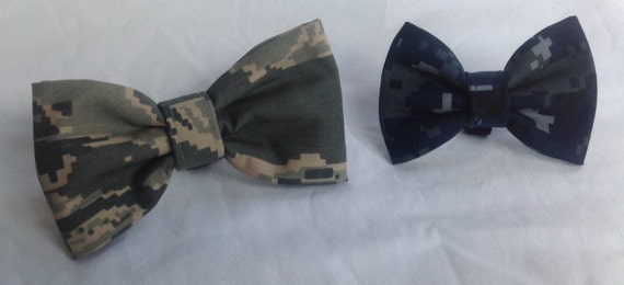 Add a Bow Tie to your Military Collar Or Adjustable Harness