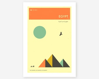 VISIT EGYPT, African Travel poster, Retro Wall art for the Home Decor, Giclee Fine Art Print