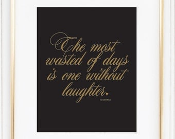 PRINTABLE Typography Laugh Quote Inspiring Wall Decor Home Art