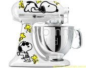 Peanuts Inspired Stand Mixer Decal Kit for your KitchenAid Featuring Snoopy and Woodstock