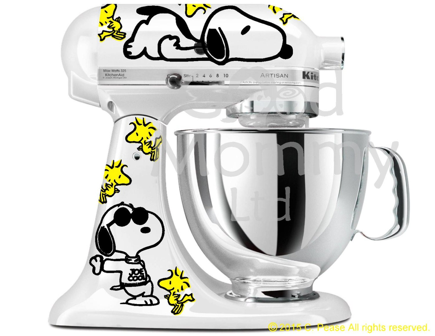 Peanuts Inspired Stand Mixer Decal Kit For Your Kitchenaid