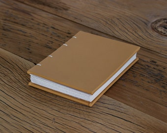 Yellow - Small Leather Coptic Journal