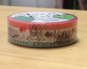 Shinzi Katoh Deco Masking Tape Alice in Wonderland  - Japanese Masking Tape