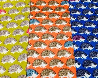 Hedgehog Print Japanese Fabric - 110cm x 50cm