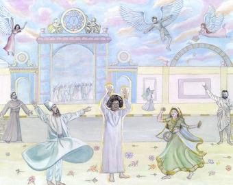 GICLEE CANVAS PRINT Sathya Sai Baba, God Is Our Best Friend - Canvas Art Print