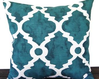 Pillow, Throw Pillow, Pillow Cover, Cushion, Decorative Pillow, Plantation Blue Green teal Madrid