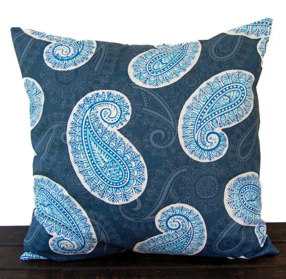 Items similar to Throw Pillow, Pillow Cover, Cushion, Decorative Pillow, Cobalt Marine Blue ...