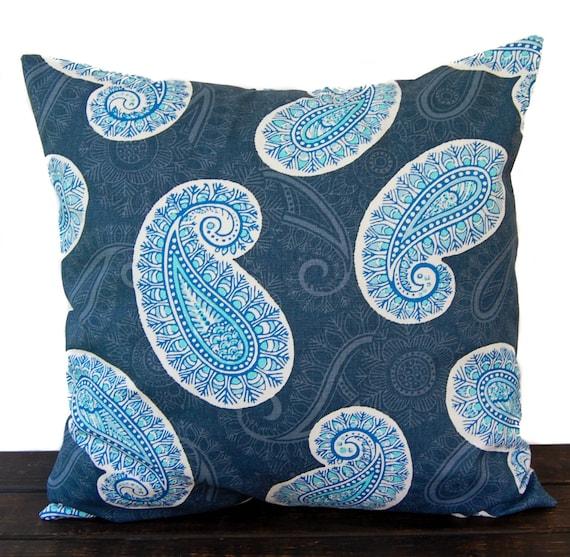 Marine Blue Throw Pillows : Items similar to Throw Pillow, Pillow Cover, Cushion, Decorative Pillow, Cobalt Marine Blue ...