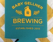 Baby is Brewing can coolers, Baby Shower brewery favors, baby and beer can coolies, Baby Shower can cooler, baby is brewing favors (50 qty)