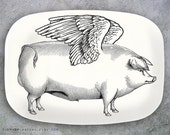 Pigs Fly melamine platter