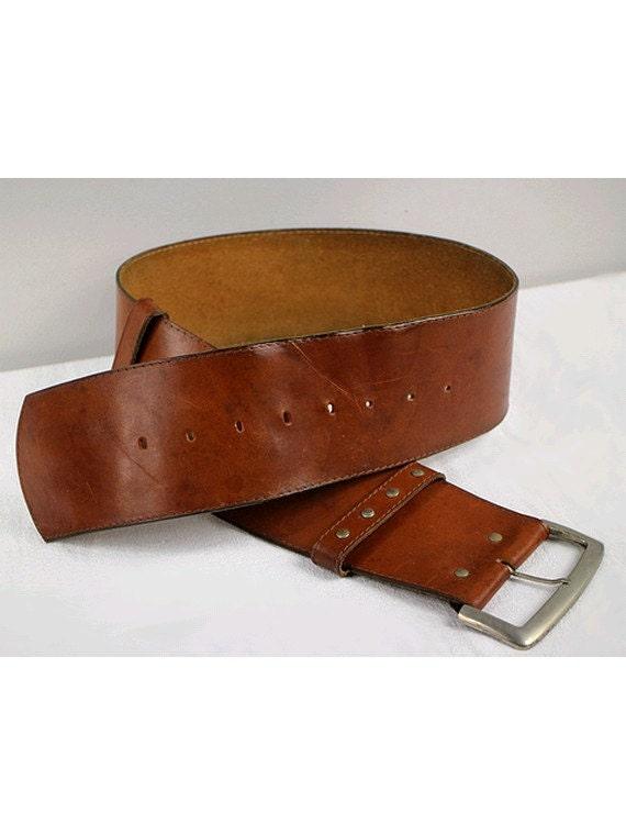 wide belt leather