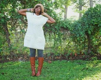 The Mountain Lodge Crochet Dress Pattern. Instant Download!
