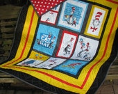 Embroiderd patch for Toddler Quilt, Baby Quilt, Boy or Girl Quilt - Cat in the Hat