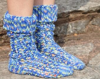 Slouchy Gumdrop Socks - PDF Crochet Pattern