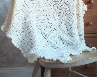 Elsie's Lace Blanket - Instant Download PDF Crochet Pattern