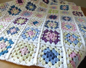 Spring Granny Blanket - Instant Download PDF Crochet Pattern