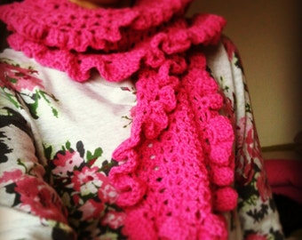 The Ruffle Scarf - Instant Download PDF Crochet Pattern