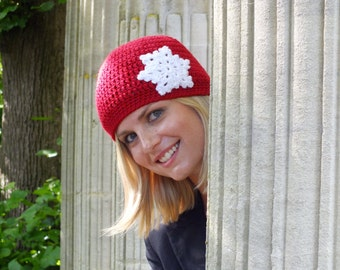 The Snowflake Hat - Instant Download PDF Crochet Pattern