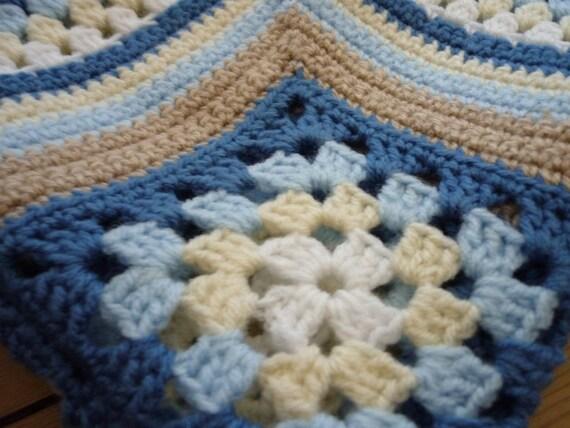 Matthew's Cluster Blanket - Instant Download PDF Crochet Pattern