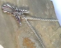 """ANGEL Charm Pendant NECKLACE on Silverplated Chain Choose 16"""" 18"""" 20"""" Fairy Guardian"""