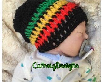 Baby boy/girl-8yrs crocheted,knitted hippie hippy,boho,Slouch or Fitted beanie,rasta jamaican unique designer,kids newborn hats, shower gift