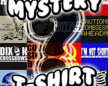 Mystery T-Shirt Funny Surprise Novelty Humor Tee Shirt Tshirt Mens Womens S-3XL Great Gift Idea