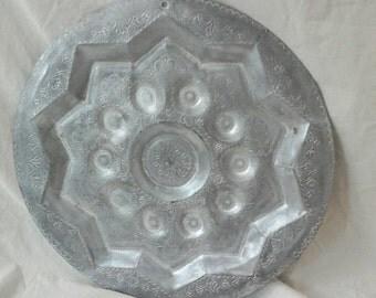 Vintage aluminium tray decorative southwestern tray