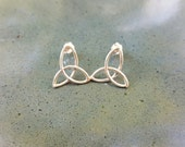 Sterling silver Celtic triqueta earrings