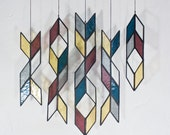 Stained Glass Elements: Diamond Drops (set of 5)