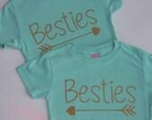 Tween Gift Girls BFF Besties Best Friends Forever Shirts-pair