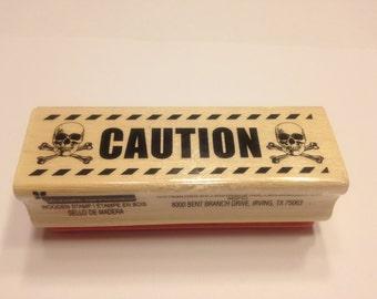 Caution, rubber stamp, 70 mm (HR21)