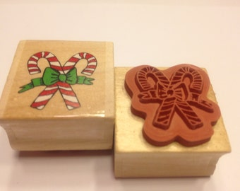 small Candy Cane rubber stamp, 25 mm (BB4)