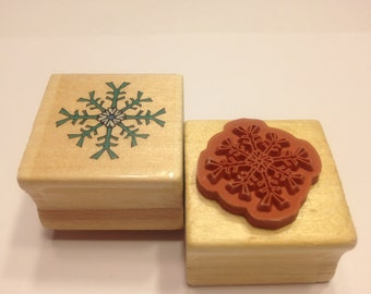 small snowflake rubber stamp, 25 mm (BB4)