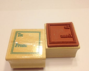 small To..From.. rubber stamp, 25 mm (BB4)