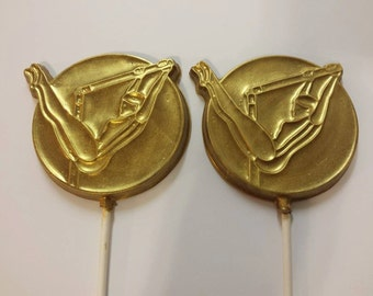 Gymnast Chocolate Lollipops (12)
