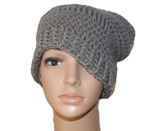 Slouch Hat, Renaissance Hat, Winter Fashion Hat, Edwardian Hat, Gray Cloche Hat, Gray Snow Hat, Womens Cloche Hat,  Gray Slouch, Mens Hat