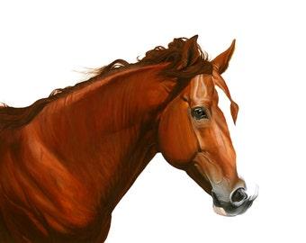 Coustum Horse Portrait of Your Horse Origanal Painting.