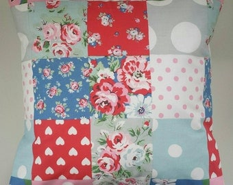 """Cushion Cover in Cath Kidston Patchwork and Spot 14"""" 16"""" 18"""" 20"""""""