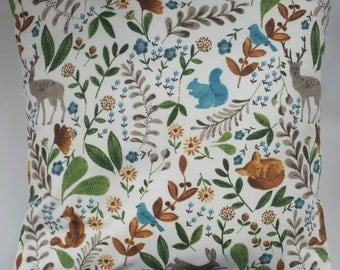 Cushion Cover in Woodland Creatures 16""