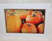 Pumpkins, photo card, Fall photography