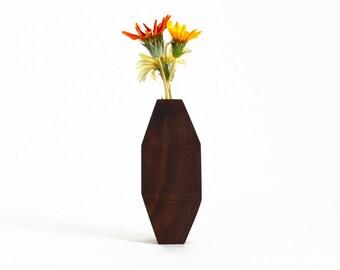 Geometric Wood Bud Vase - Tetradecagon
