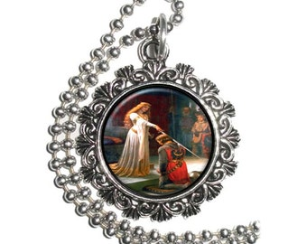The Accolade Art Pendant, History Resin Pendant, Edmund Blair Leighton Art, Photo Pendant
