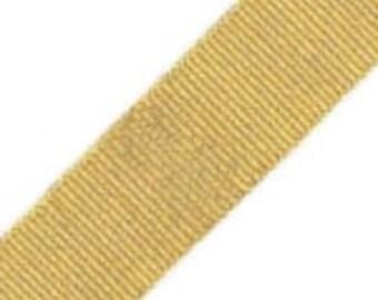 "3/8"" Grosgrain ribbon - Offray - Metallic gold - 5 yards - Destash, Christmas"