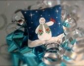 Snazzy Snowman Miniature Dollhouse Pillow