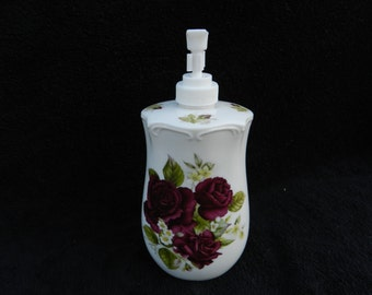Soap Dispenser: Hand Decorated Porcelain