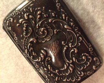Antique Unger Brothers Sterling Silver Card or Cigarette Case